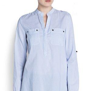 Gorgeous Light Weight Cotton Stripe Shirt Mango